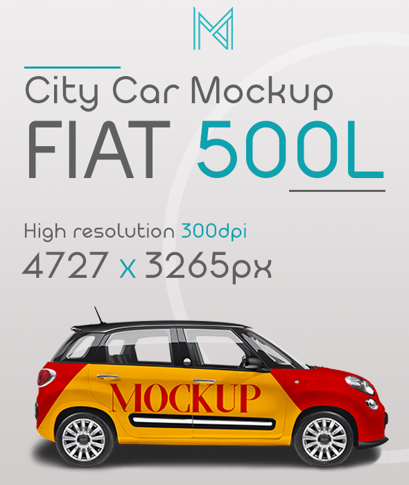 Free Realistic City Car FIAT 500L